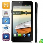 "MP707 MTK6582 Quad-core Android 4.3.0 WCDMA Bar Phone w/ 5.0"" IPS HD, FM, Wi-Fi and GPS - Black"