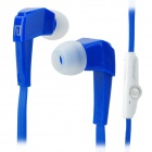 LANSHIDUN JV19 Stylish 3.5mm Jack Wired Stereo Headset w/ Mic for Smartphone - Blue + White