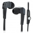 LANSHIDUN JV19 Stylish 3.5mm Jack Wired Stereo Headset w/ Mic for Smartphone - Black