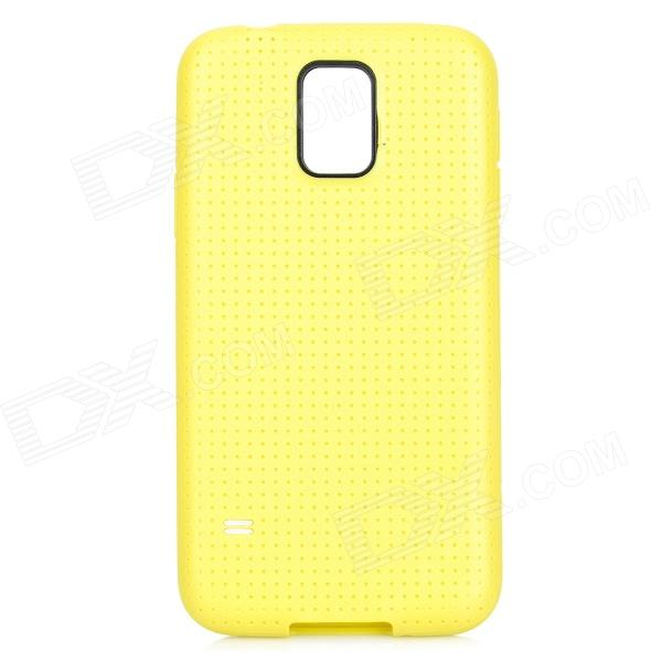 Protective TPU Case for Samsung Galaxy S5 - Yellow чехол для для мобильных телефонов oem sumsung galaxy s5 wood case for sumsung galaxy s5