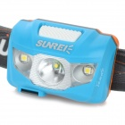 SUNREE R4 162LM Warm Yellow Light LED Textured Head Lamp - Blue