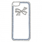 Stylish Shiny Crystal Inlaid Bowknot Pattern Plastic Back Case for IPHONE 5 / 5S - Transparent + Sil