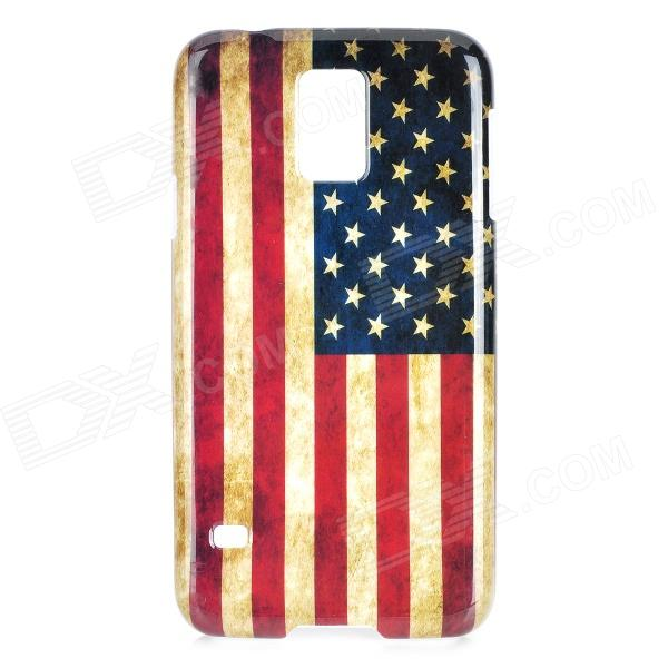 US National Flag Pattern Protective PC Case for Samsung Galaxy S5 protective germany national flag pattern case for samsung galaxy s4 i9500 black red yellow