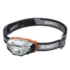SUNREE R4 162LM Warm Yellow Light Cree XP-G2 Water Resistant Textured Head Lamp - Black (1 x AA)
