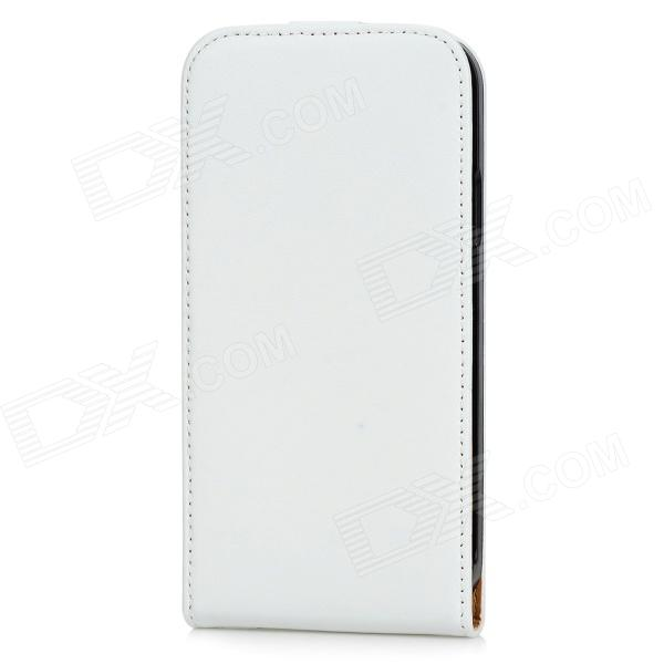 Protective Top Flip Split Leather Case for Samsung Galaxy S5 - White