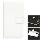 Protective Flip-open Split Leather Case w/ Card Slot for Samsung Galaxy S5 - White