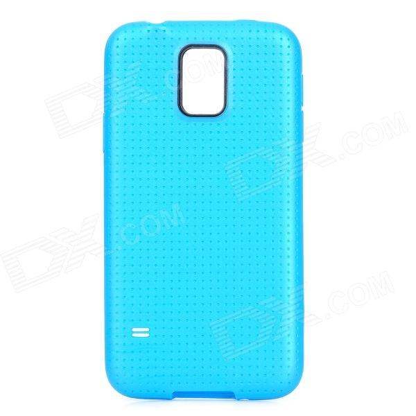 Protective TPU Case for Samsung Galaxy S5 - Blue чехол для для мобильных телефонов oem sumsung galaxy s5 wood case for sumsung galaxy s5