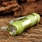 60lm 9-LED White Light Flashlight w/ Strap - Green (3 x AAA)