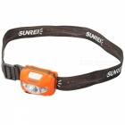 SUNREE R4 162LM Warm Yellow Light Cree XP-G2 Water Resistant Textured Head Lamp - Orange