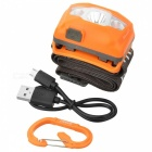 SUNREE R4 162LM Warm Yellow Light LED Water Resistant Textured Head Lamp - Orange
