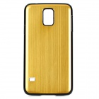 High Quality Protective Aluminum Alloy Back Case for Samsung Galaxy S5 - Golden