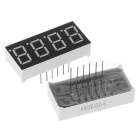 "1.4"" 4-Bit Common Anode Red LED Digital Seven-segment Display - Black + White (5 PCS)"