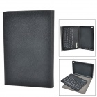 Ultra-Slim Leather Case + Removable  Bluetooth v3.0 61-Key Keyboard - Black