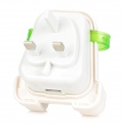Creative Backpack Style 5V 1A USB 2.0 UK Plug Power Charger - White + Translucent Green
