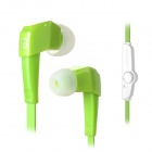 LANSHIDUN JV19 Stylish 3.5mm Jack Wired Stereo Earphone w/ Mic for Smartphone - Green + White