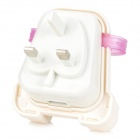 Creative-Rucksack-Stil 5V 1A USB 2.0 UK Plug Power Charger - White + Translucent Purple (100 ~ 240V)
