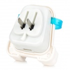 Creative Backpack Style 5V 1A USB 2.0 US Plug Power Charger - White + Translucent Blue (AC 100~240V)