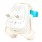Creative Backpack Style 5V 1A USB 2.0 UK Plug Power Charger - White + Translucent Blue (AC 100~240V)