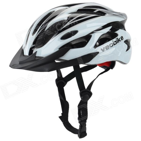Veobike V-03 Stylish Outdoor Cycling Bike Helmet - White + Black