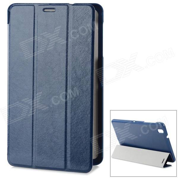 Stylish Flip-open PU Case w/ 3-fold Stand for Samsung Galaxy Tab Pro T320 - Dark Blue protective pu leather flip open stand case w stylus for samsung galaxy tab pro 8 4 t320 white