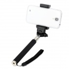 Retractable Selfie Monopod w/ Phone Holder + RC - Black + Silver