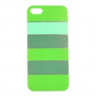Colorful Protective TPU Back Case for IPHONE 5 / 5S - Green + Dark Green
