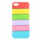 Colorful Protective TPU Back Case for IPHONE 5 / 5S - Red + Yellow