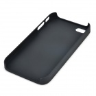 Rudder Pattern Protective Plastic Back Case for IPHONE 4 - White + Black