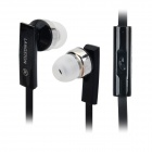 LANSHIDUN JV-04 Stylish In-Ear Stereo Earphones w/ Microphone for Samsung / HTC / Xiaomi - Black