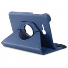 IKKI 360 Degree Rotating Flip-open PU Case w/ Stand for Samsung Galaxy Tab 3 Lite T110 - Blue
