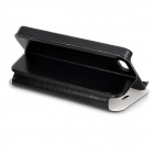 """LOVE"" Pattern PU + Plastic Flip-Open Case w/ Stand / Card Slot for IPHONE 5 / 5S - Black"