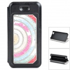 Protective Flip Open PU + Plastic Case w/ Stand / Card Slot for IPHONE 5 / 5S - Black
