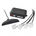 "D04 0.6"" LED 4-Sensor Car Parking Reverse Backup Radar System - White + Black (DC 9~15V)"