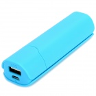 "LEYOU LY-290 Mini Portable ""2600mAh"" Power Bank w/ LED Indicator - Blue"