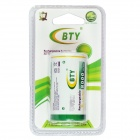 BTY Rechargeable 7800mAh 1.2V D Ni-MH Battery - White + Green