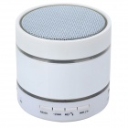 Portable Bluetooth V3.0 Stereo Speaker w/ Microphone / Hands-Free / TF / AUX - White + Black