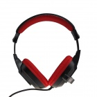 VONSOM VS8802 Fashionable Headphones w/ Microphone - Black + Red (3.5mm Plug / 112cm-Cable)