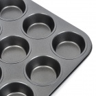 Iron + Teflon Non-Stick Coating 12-in-1 Muffin Cup Cake DIY Mold - Black