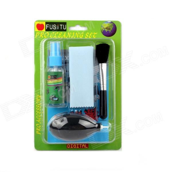 FUSITU 5-in-1 Lens Cleaning Brush + Cotton Cloth + Air-Blower + Swab + Paper for Camera/SJ4000 универсальные чехлы для автомобильных колес для volkswagen allspace r line polo passt touran l gol santana tiguan l touran jetta tiguan leather pu