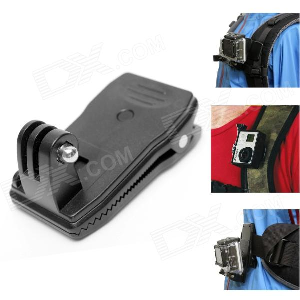 Backpack Rec-Mounts Clip Fast Clamp Mount for GoPro - Black