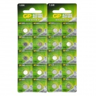 GP 1.5V Alkaline 192 / LR41 / AG3 / 392 / L736 Button Cell - Silver (20 PCS)
