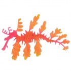Nette Lebensechte Sea Dragon-Art-Silikon Aquarium Decorator - Gelb + Rosa