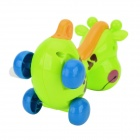 CJL001 Cute Clockwork Spring Giraffe Toy - Green + Blue + Multi-Colored