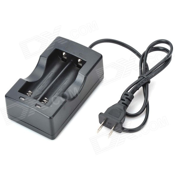 US Plugs Battery Charger for 18650 - Black (100~240V)