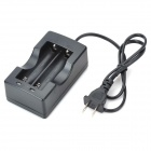 US Plug Battery Charger for 18650 - Black (100~240V)