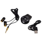 HZ2037 Mini Portable Stereo Audio Bluetooth V3.0 Receiver Adapter + Earphone - Black