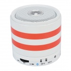 288S 3-in-1 Bluetooth V2.1 + EDR Stereo Speaker w/ Mic / TF / AUX / Mini USB - White + Red