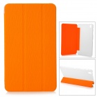 Protective PU Case w/ Stand for 8.4'' Samsung Galaxy Tab Pro T320 / 321 - Orange + Transparent