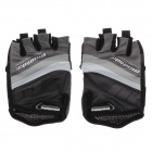 SK-02 Anti-Slip Half-Finger Bicycle Riding Cycling Gloves - Grey + Black + White (Size-L)