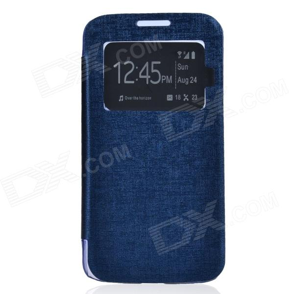 TEMEI PU Leather + Plastic Case w/ Visual Window for Samsung Galaxy Grand 2 G7106 - Deep Blue quality systems and controls for pharmaceuticals
